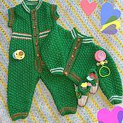 Комплекты одежды ручной работы. Ярмарка Мастеров - ручная работа Детский комплект сптцами Моя горошинка. Handmade.
