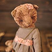 Куклы и игрушки ручной работы. Ярмарка Мастеров - ручная работа Кошка тедди.................. Handmade.