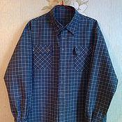 Одежда ручной работы. Ярмарка Мастеров - ручная работа Рубаха мужская из льна в клетку. Handmade.