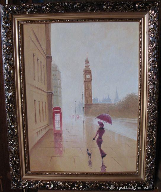 Город ручной работы. Ярмарка Мастеров - ручная работа. Купить Лондон 2. 30х40см. Handmade. Городской пейзаж, картина маслом