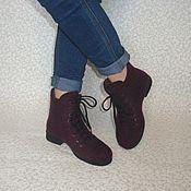 """Обувь ручной работы. Ярмарка Мастеров - ручная работа Ботинки валяные цвета """"Баклажан"""". Handmade."""