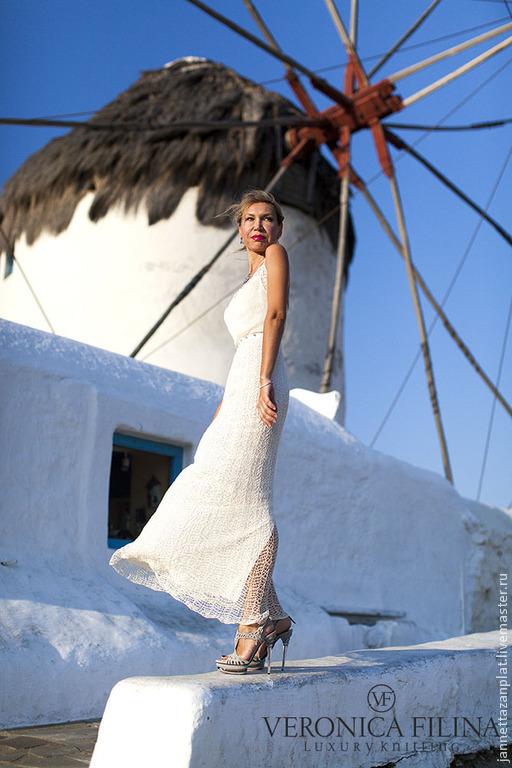 """Платья ручной работы. Ярмарка Мастеров - ручная работа. Купить платье """"Жасмин"""". Handmade. Белый, авторская ручная работа"""
