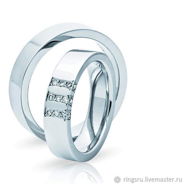 Свадебные украшения ручной работы. Ярмарка Мастеров - ручная работа. Купить  Обручальные кольца парные. cb44e6da515