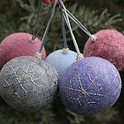 Подарки к праздникам handmade. Livemaster - original item Christmas balls of wool