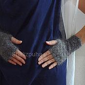 Аксессуары handmade. Livemaster - original item 379, Fingerless gloves knitted feather. Handmade.