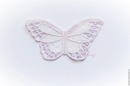 Аппликации, вставки, отделка ручной работы. Ярмарка Мастеров - ручная работа. Купить вышивка аппликация бабочка Бледная сирень кружевные ажурные. Handmade.