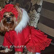 """Для домашних животных, ручной работы. Ярмарка Мастеров - ручная работа Комбинезон-пальто """"Ягода Красная"""". Handmade."""