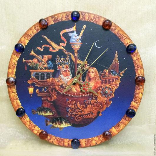 """Часы для дома ручной работы. Ярмарка Мастеров - ручная работа. Купить часы настенные """"Фэнтези"""", часы для дома. Handmade. Комбинированный"""