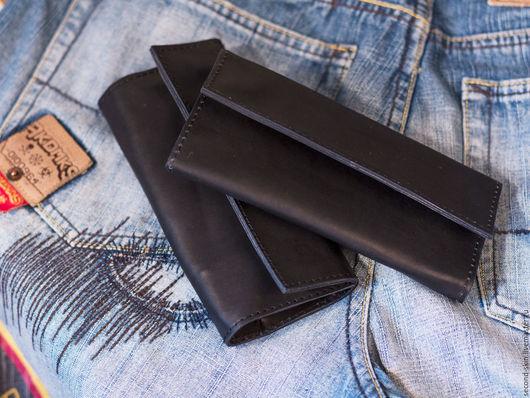 Футляры, очечники ручной работы. Ярмарка Мастеров - ручная работа. Купить Черный кисет для табака. Handmade. Черный, Саймон