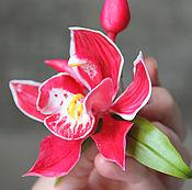 Украшения ручной работы. Ярмарка Мастеров - ручная работа Брошь с орхидеей Цимбидиум. Handmade.