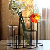 Для дома и интерьера handmade. Livemaster - original item A set of five vases. Geometric vases Loft. Handmade.