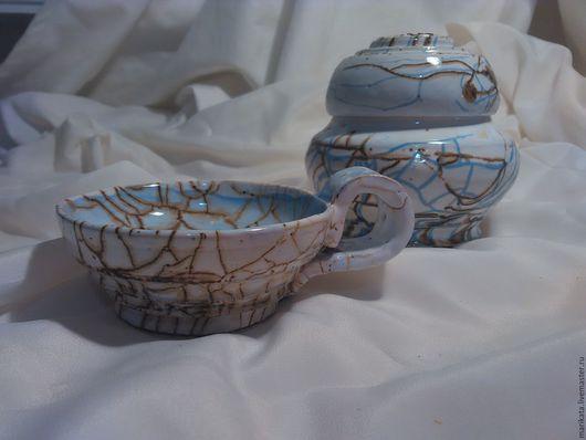 """Кружки и чашки ручной работы. Ярмарка Мастеров - ручная работа. Купить Чашка  из серии """"Морозное утро"""", керамика.. Handmade. Голубой"""