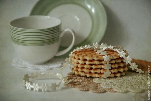 Фотокартины ручной работы. Ярмарка Мастеров - ручная работа. Купить Натюрморт Легкий завтрак. Handmade. Белый, салатовый, печенье, салфетки