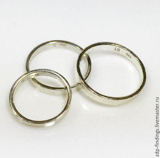 Для украшений ручной работы. Ярмарка Мастеров - ручная работа. Купить 11 размеров 2 серебряных основы для кольца RGSHV. Handmade.