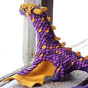 Куклы и игрушки ручной работы. Ярмарка Мастеров - ручная работа Фиолетово-золотистый дракон. Handmade.