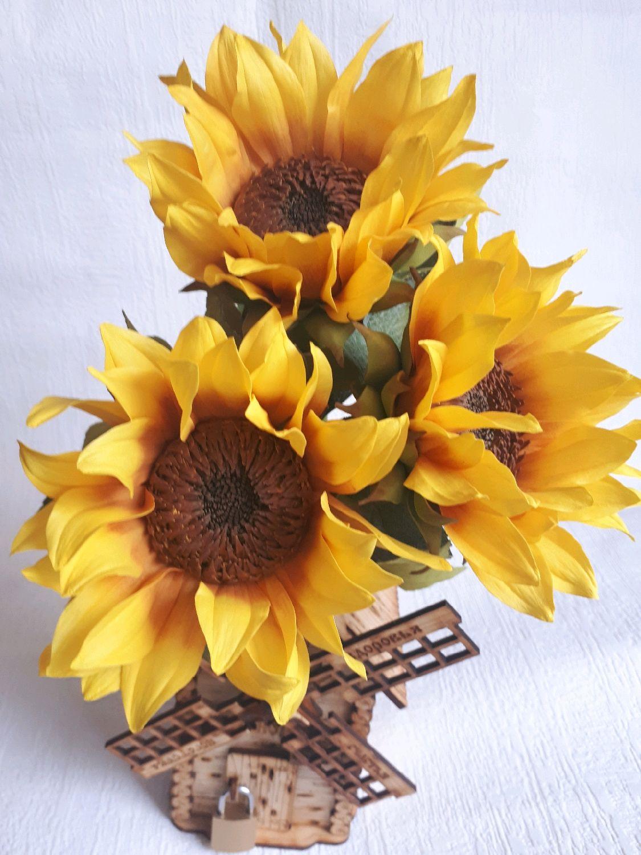 Подсолнух из фоамирана, Цветы, Ульяновск, Фото №1