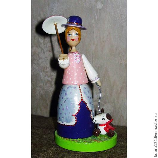 """Коллекционные куклы ручной работы. Ярмарка Мастеров - ручная работа. Купить Кукла сувенирная """"Дама с собачкой""""  (малая). Handmade."""