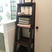 Для дома и интерьера ручной работы. Ярмарка Мастеров - ручная работа Полочка для ванной в стиле рустик. Handmade.