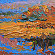 Пейзаж ручной работы. Ярмарка Мастеров - ручная работа. Купить Берег реки. Handmade. Оранжевый, берег, берег реки