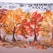 Яркая Осень   палантин двухсторонний сумка валяная/кожа страуса
