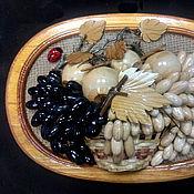 Картины и панно handmade. Livemaster - original item Panels of wood with grapes, handmade. Handmade.
