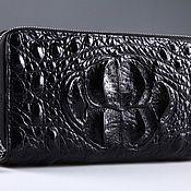 Сумки и аксессуары handmade. Livemaster - original item Clutch bag in crocodile leather with two zippers IMA0001B111. Handmade.