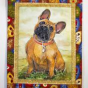 Картины и панно handmade. Livemaster - original item Panels - French bulldog. Handmade.