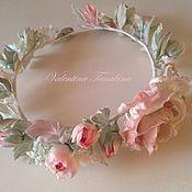 Свадебный салон ручной работы. Ярмарка Мастеров - ручная работа свадебный венок из роз. Handmade.