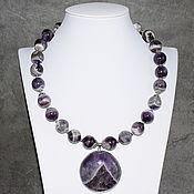 Украшения handmade. Livemaster - original item Necklace with a pendant natural Madagascar amethyst. Handmade.