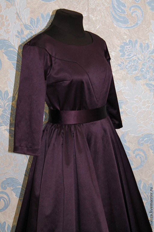 """Платья ручной работы. Ярмарка Мастеров - ручная работа. Купить Платье в стиле 50-х """"Спелая слива"""". Handmade."""