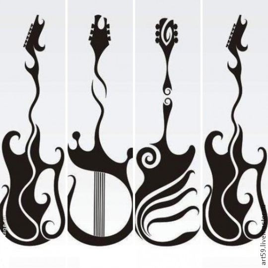 Abstract Art handmade. Livemaster - handmade. Buy Abstraction 'Guitar'.Black and white, home, favorite, abstraction