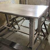 Столы ручной работы. Ярмарка Мастеров - ручная работа Стол резной дубовый. Handmade.