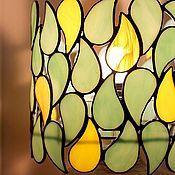 Для дома и интерьера handmade. Livemaster - original item August.  Stained glass lamp. Handmade.