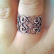 Украшения handmade. Livemaster - original item Ring Pattern - silver 925. Handmade.