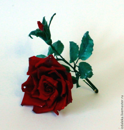 Цветы ручной работы. Ярмарка Мастеров - ручная работа. Купить Сахарная роза. Handmade. Роза, цветы, бордовый, тейп-лента