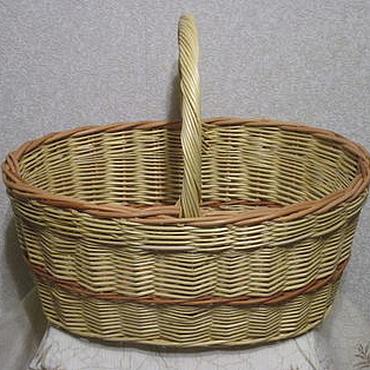 Для дома и интерьера ручной работы. Ярмарка Мастеров - ручная работа Корзина грибная, плетеная из лозы. Handmade.