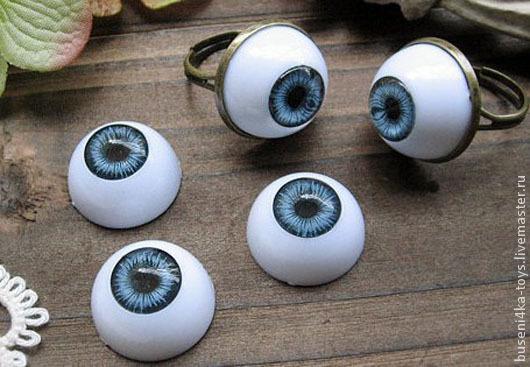 """Куклы и игрушки ручной работы. Ярмарка Мастеров - ручная работа. Купить 18мм Глаза кукольные (синие) 2шт. """"3201"""". Handmade."""