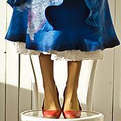 Юбки ручной работы. Ярмарка Мастеров - ручная работа Весенняя юбка миди, юбка с оборками, яркая длинная юбка Метелица. Handmade.