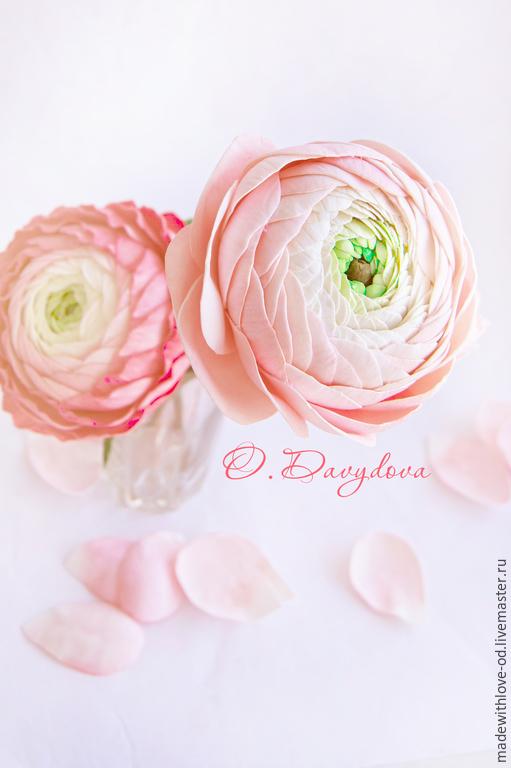 """Купить Мастер-класс """"Ранункулюс из фоамирана"""" - разноцветный, цветы из фоамирана, цветы из фома"""