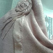 Аксессуары ручной работы. Ярмарка Мастеров - ручная работа палантин цвета пыльной розы. Handmade.
