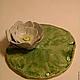 Медитация ручной работы. Ярмарка Мастеров - ручная работа. Купить Голубой лотос под благовония керамика. Handmade. Керамика, подарок