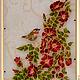 Картины цветов ручной работы. Ярмарка Мастеров - ручная работа. Купить витраж (роспись) Шиповник. Handmade. Витраж, стекло, шиповник
