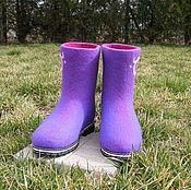 """Обувь ручной работы. Ярмарка Мастеров - ручная работа Валенки-сапожки """"Сияние-2"""". Handmade."""