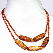 Украшения handmade. Livemaster - original item African necklace of agate and carnelian with faceted. Handmade.