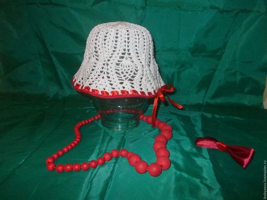 Шапки и шарфы ручной работы. Ярмарка Мастеров - ручная работа. Купить Панамка. Handmade. Белый, Панамка детская