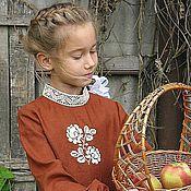 Работы для детей, ручной работы. Ярмарка Мастеров - ручная работа Платье в русском стиле БАРЫШНЯ. Handmade.