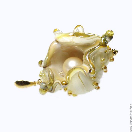 Кулоны, подвески ручной работы. Ярмарка Мастеров - ручная работа. Купить Кулон ракушка Мечта о море - позолоченное серебро 925, авт. лэмпворк. Handmade.