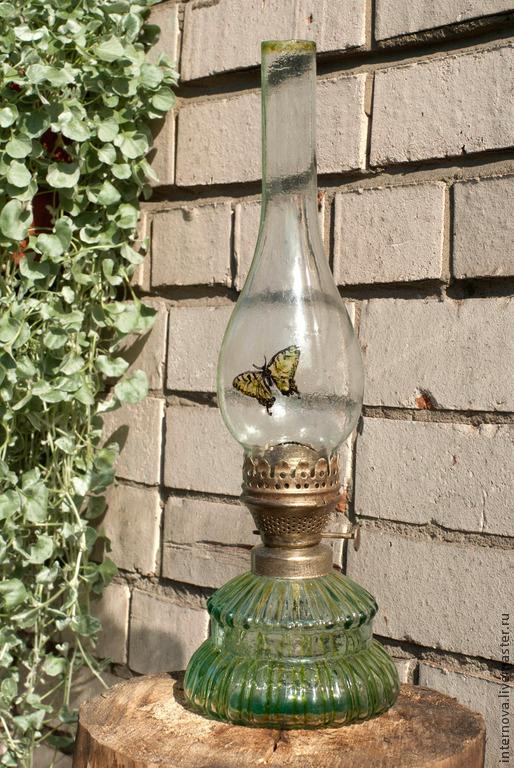 """Экстерьер и дача ручной работы. Ярмарка Мастеров - ручная работа. Купить лампа керосиновая с чердака  """"бабочки полёт..."""". Handmade."""