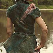 """Одежда ручной работы. Ярмарка Мастеров - ручная работа Авторская одежда жилет валяный """"Хозяйка медной горы"""". Handmade."""