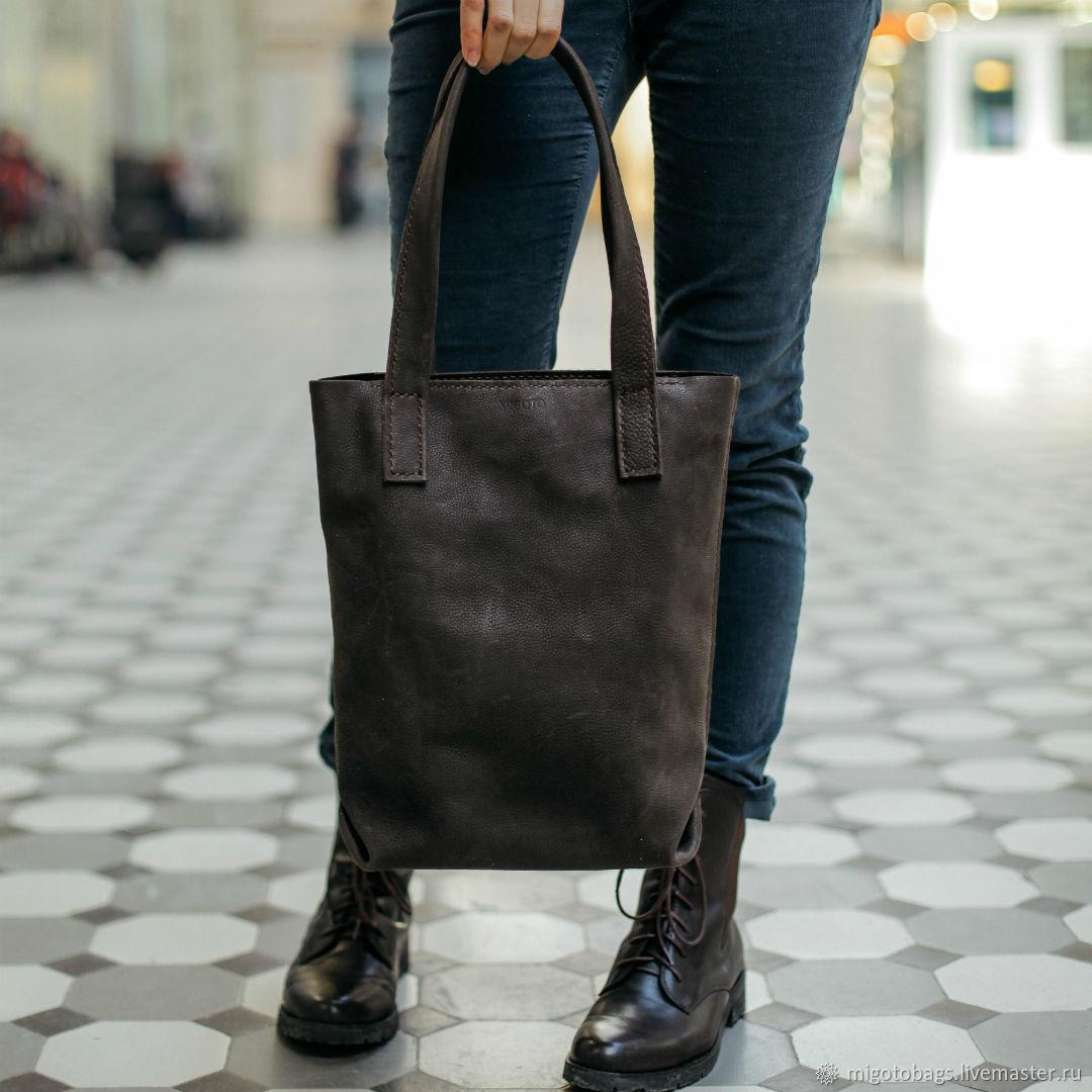 6e0645062369 Женские сумки ручной работы. Ярмарка Мастеров - ручная работа. Купить  Кожаная женская сумка шоппер ...
